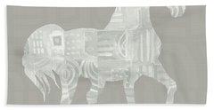 White Horse 1- Art By Linda Woods Beach Towel