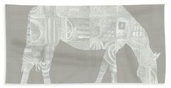 White Horse 2- Art By Linda Woods Beach Towel