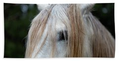 White Horse Eye And Mane Beach Towel