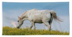 White Horse Of Cataloochee Ranch 2 - May 30 2017 Beach Towel