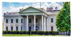 White House Beach Towel by Anthony Baatz