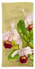 White House Orchid 1892 Beach Towel