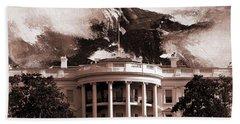 White House Washington Dc Beach Sheet by Gull G