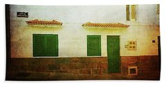 Beach Towel featuring the photograph White House With Flags, Alcala by Anne Kotan