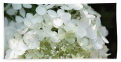 White Hydrangea I Beach Towel by Mary Haber