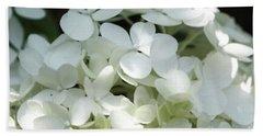 White Hydrangea II Beach Sheet by Mary Haber