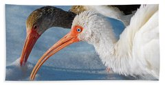 White Ibises Beach Sheet