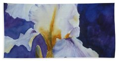 White Iris Beach Towel