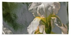 White Iris Beach Towel