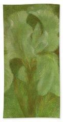 White Iris Painterly Texture Beach Sheet