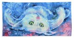 White Kitten  Beach Sheet