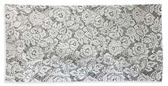 Beach Towel featuring the photograph White Lace by Nareeta Martin