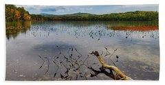 White Lake Autumn View Nh Beach Sheet