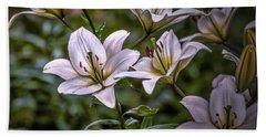 White Lilies #g5 Beach Towel