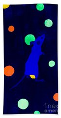 White Mouse Uv Beach Towel