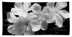 White Oleander Beach Towel