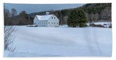 White On White Beach Towel by Tom Singleton