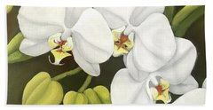 White Orchid Beach Towel by Inese Poga