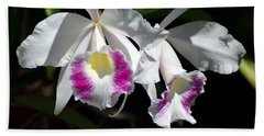 White Orchids Beach Towel