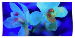 Beach Sheet featuring the digital art White Painted Orchids by Darleen Stry