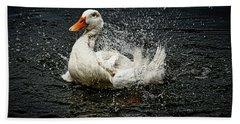 White Pekin Duck Beach Towel