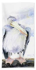 White Pelican Beach Towel