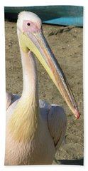 Beach Towel featuring the photograph White Pelican by Sally Weigand