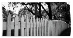 White Picket Fence- By Linda Woods Beach Towel