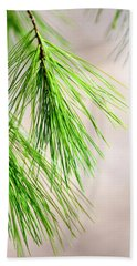 Beach Towel featuring the photograph White Pine Branch by Christina Rollo