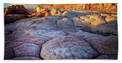 White Pocket Rocks Beach Towel