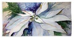 White Poinsettia Beach Sheet