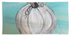 White Pumpkin Beach Towel