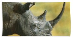 White Rhino Beach Towel