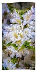 White Rhododendron Beach Sheet