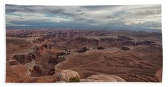 White Rim Overlook Beach Towel by Alan Vance Ley