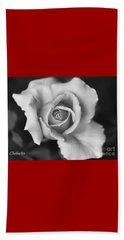 White Rose On Black Beach Sheet