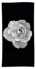 White Rose Flower In Black And White Beach Sheet