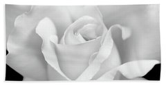 Beach Towel featuring the photograph White Rose Purity by Jennie Marie Schell