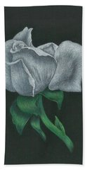 White Rose Beach Towel by Troy Levesque