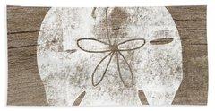 White Sand Dollar- Art By Linda Woods Beach Towel