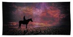 White Sands Horse And Rider #4c Beach Sheet