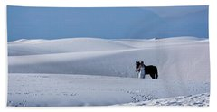 White Sands Horse And Rider #5b Beach Towel