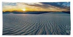 White Sands Sunset Panorama Beach Towel
