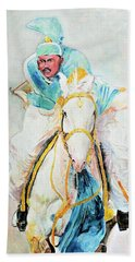 White Stallion Beach Towel