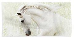 Beach Towel featuring the digital art White Stallion by Melinda Hughes-Berland