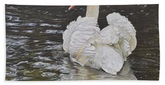 White Swan Beach Towel