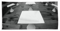 White Tables Beach Towel