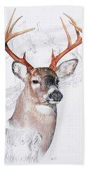 White-tailed Deer Beach Sheet by Barbara Keith