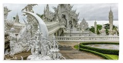 White Temple Thailand Beach Towel