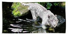 White Tiger Beach Towel by M G Whittingham